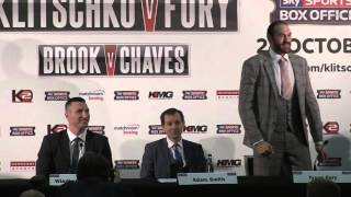 Tyson Fury Funny Performance at Press Conference with Kitschko