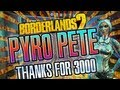 Borderlands 2 Pyrocaustic Pete Solo Siren with patched Bee shield