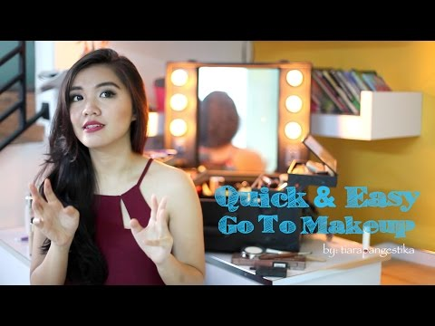 Quick & Easy Go To Makeup Tutorial With Three Lipstick Options| Indonesia