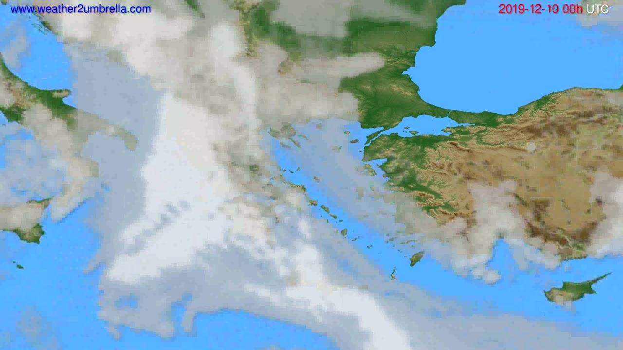 Cloud forecast Greece // modelrun: 00h UTC 2019-12-09