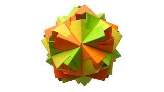 Новогодний шар из бумаги. Оригами елочное украшение своими руками