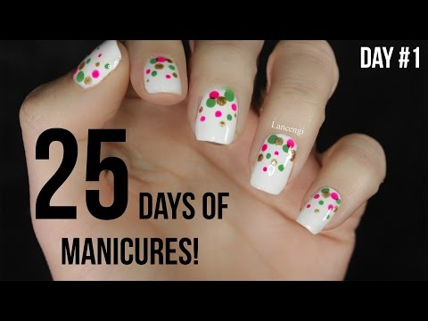 Day #1 | 25 Days of Manicures – DIY Easy Christmas Nail Art