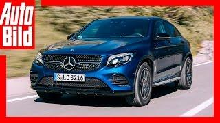 Video: Mercedes GLC Coupé (2016) - SUV-Coupé mit Stern / Drive / Review / Test by Auto Bild