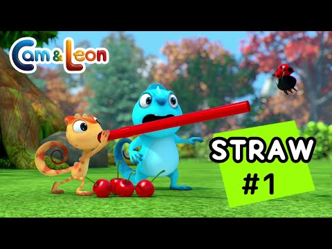 Hilarious Children Cartoon | Drinking Straw #1 | Cam & Leon