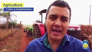 Assentamento Amparo recebe trator e implementos para uso dos produtores rurais