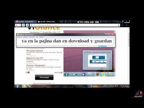 ComoPoner La Barra Transparente de Windows 7 en XP y Efecto de Cuadro En la Barra