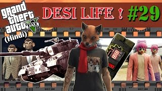 GTA 5 (Hindi) Desi Life #29 - Rhino Tank vs Sticky Bombs (GTA ...