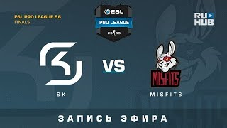SK vs Misfits - ESL Pro League S6 Finals - map1 - de_cobblestone [Enkanis, yXo]