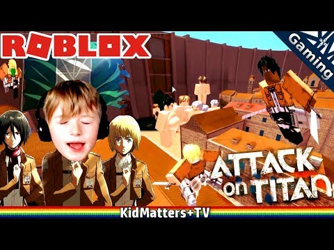 ATTACK ON TITAN IN ROBLOX! DOWNFALL | Let's Play Team Attack On Titans | Gameplay [KM+Gaming S02E14]