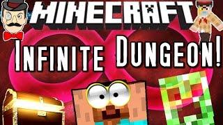 Minecraft INFINITY DUNGEON! Automatic Random Challenges&Treasure!