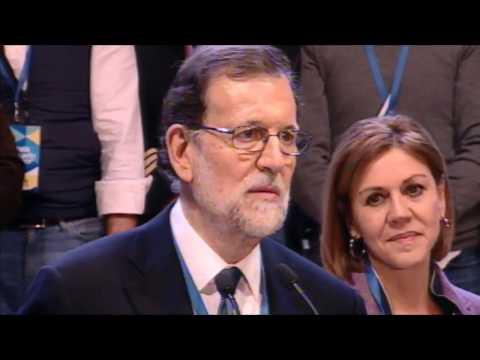 Primeras palabras de Mariano Rajoy tras su reelección en el #18CongresoPP