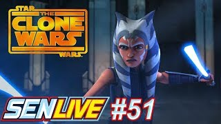 Star Wars The Clone Wars Official Trailer Review - SEN LIVE #51 by Schmoes Know