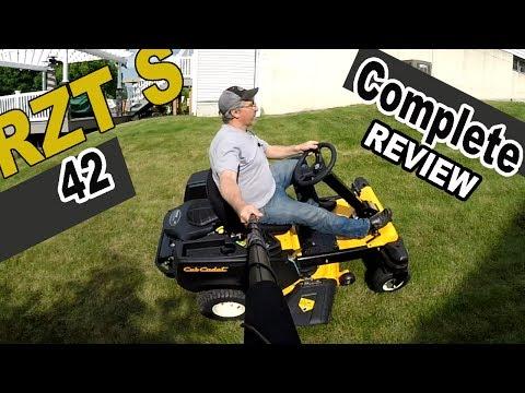 Cub Cadet steering wheel zero turn review - RZT S42