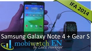 Samsung showed on the IFA the Galaxy Note 4 and the new smartwatch Gear S that has its own SIM card, so it can operate without any mobile phone. This hands-o...