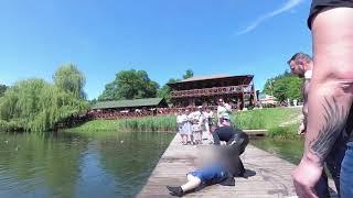 Motocykliści nagrali akcję ratowania porobionego mężczyzny w Złotym Potoku