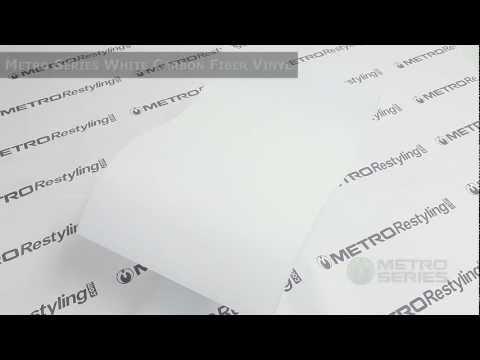 Metro 3D Flexible White Carbon Fiber Vinyl Wrap