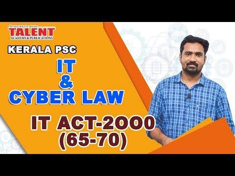 IT & Cyber Law for University Assistant | Important Acts Only | Talent Academy