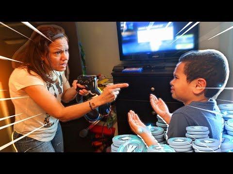 Mom tells 9 year old kid he cant play fortnite ever again...prank! HE RAGED!