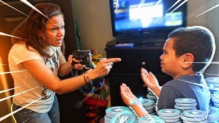 Video Mom tells 9 year old kid he cant play fortnite ever again...(prank!) *HE RAGED!* MP3, 3GP, MP4, WEBM, AVI, FLV Agustus 2018