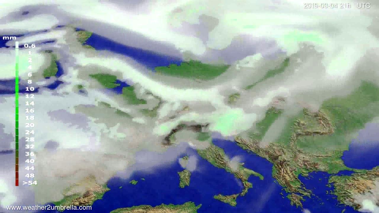 #Weather_Forecast// Precipitation forecast Europe 2019-03-03