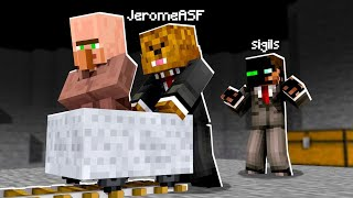 Stealing VILLAGERS From My Friends in Camp Minecraft | JeromeASF