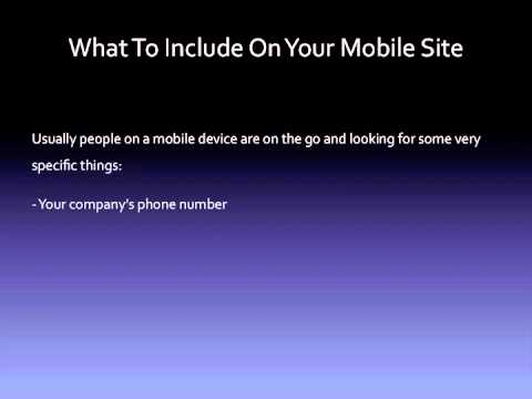 3 The 3 Most Important Information to Include In Your Mobile Website