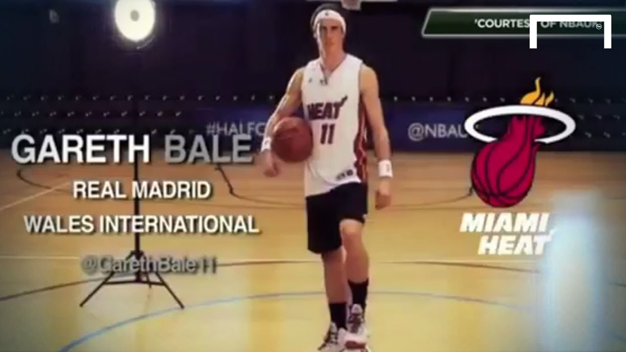Gareth Bale smashes the NBA half-court challenge