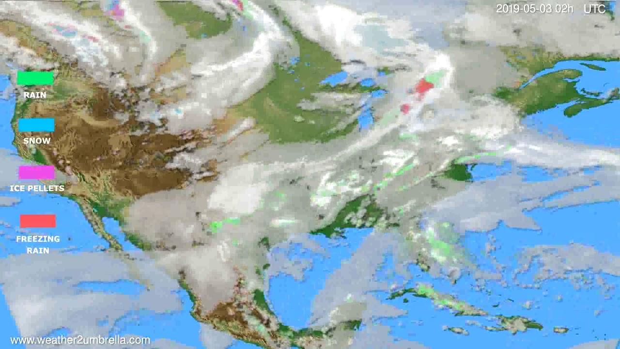 Precipitation forecast USA & Canada // modelrun: 00h UTC 2019-05-01