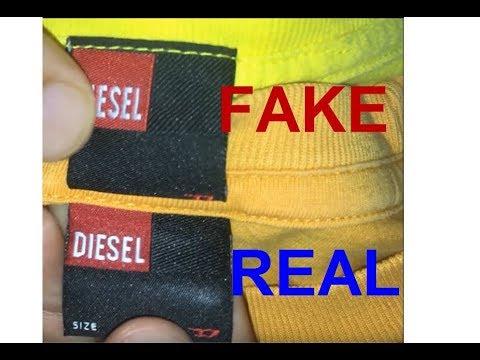 Real vs. Fake Diesel T-Shirt. How to spot fake Diesel.
