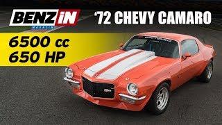1972 Chevrolet Camaro Z28 | 6.5 litre 650 hp | 8400 devir çeviriyor