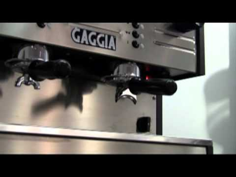 Gaggia LC/D coffee machine demo