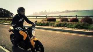 3. 2013 Zero S  Electric Motorcycle - Natural sound of the ride.