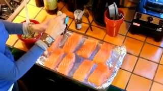 Scrumptious Baked Salmon Your choice of how many salmon fillets to make. Be sure each one is between 4-6 ounces in size, ...