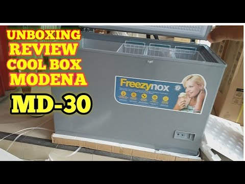 UNBOXING DAN REVIEW CHEEST FREEZER || COOL BOX MODENA MD-30
