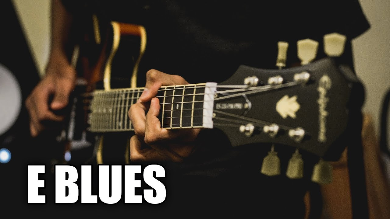 Blues Acoustic Guitar Backing Track In E