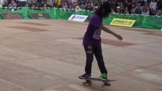 Isamu Yamamoto : The final run in PRO division at All Japan Freestyle skateboard championship 2015 - YouTube