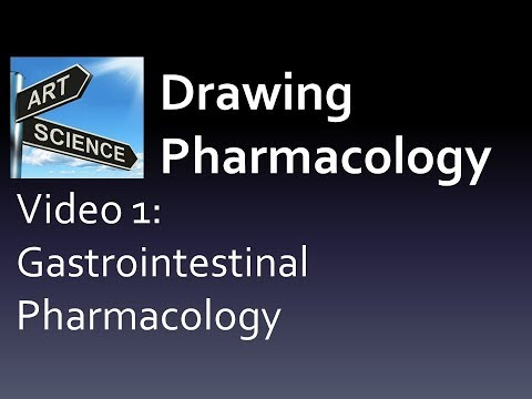 (CC/JPG) Drawing Pharmacology Video 1 Chapter 1 Gastrointestinal (Pharmacology book preview video)
