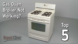 Oven broiler not working? This video provides information on how to troubleshoot a gas oven that won't broil and the most likely ...