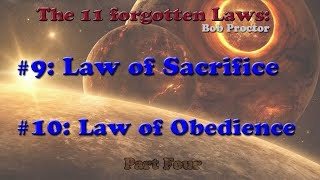 Law Of Sacrifice   Obedience   Forgotten Laws Of Universe