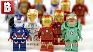 Every Lego Iron Man Minifigure Ever!!! + Rare Iron Patriot and War Machine! | Lego Collection Review