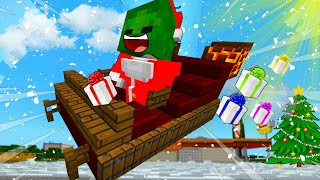 BABY Zombie Saves CHRISTMAS - MINECRAFT STEVE AND BABY ZOMBIE [52]