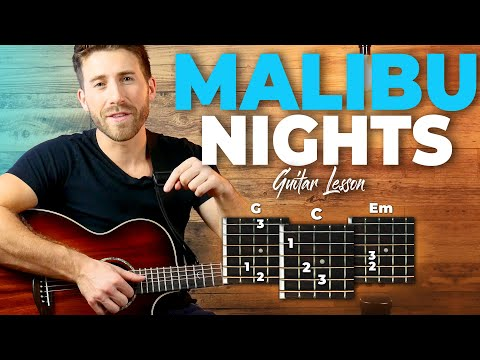 Malibu Nights Guitar Tutorial (LANY) Easy Chords Guitar Lesson