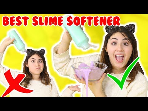 BEST SLIME SOFTENER TEST | testing different items for slime softer | Slimeatory #211 (видео)