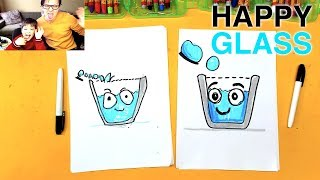 How to Draw Glass from Happy Glass