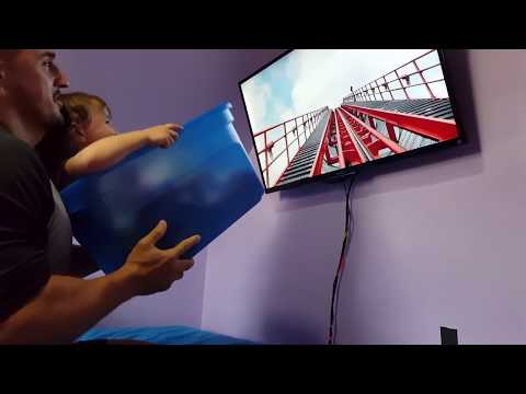 Dad set's up a Roller Coaster at Home for his Baby!! HD