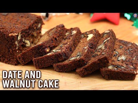 Dates Walnut Cake | How To Make Eggless Cake | Easy Cake Recipe | Christmas Special | Varun