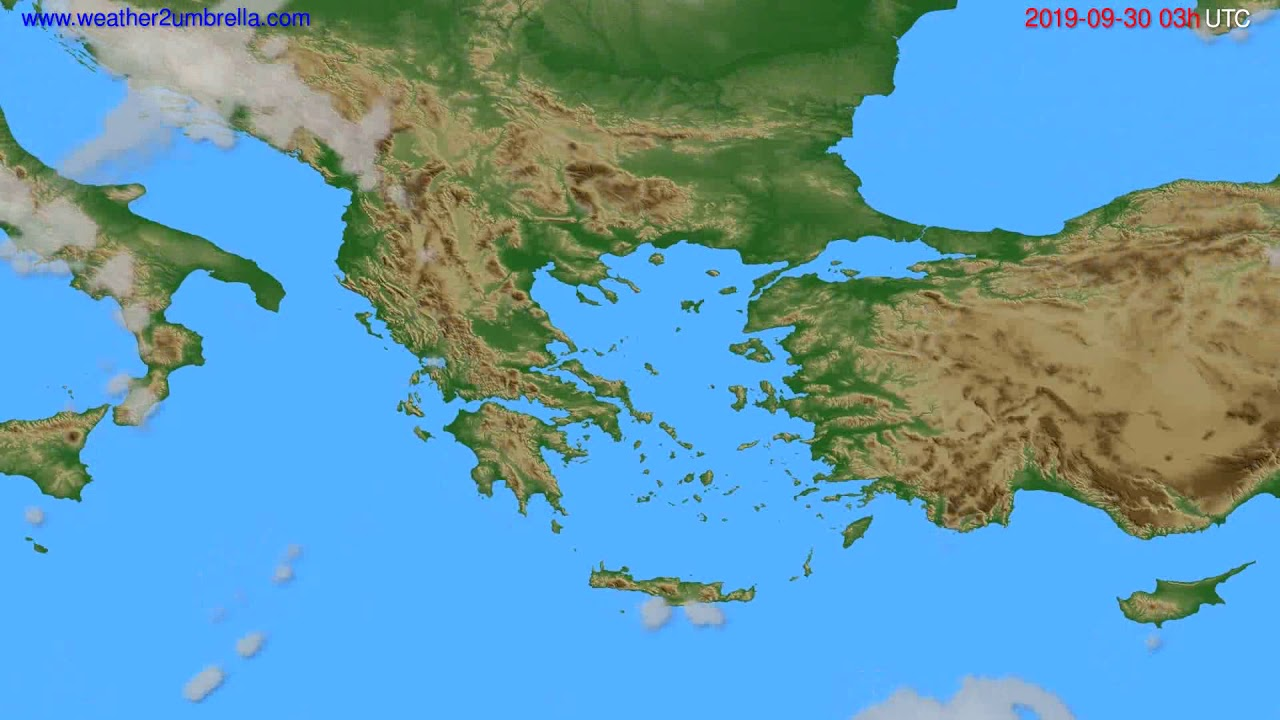 Cloud forecast Greece // modelrun: 00h UTC 2019-09-27