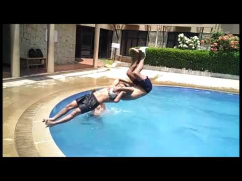 Swimming pool tricks and fun | In public pool, Bangalore, India