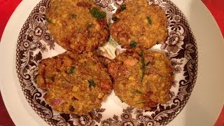 Kala chana vadai or black chickpeas vada
