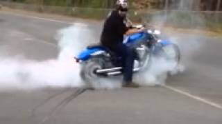 5. Burnout on 2011 Yamaha Star Stryker 1300